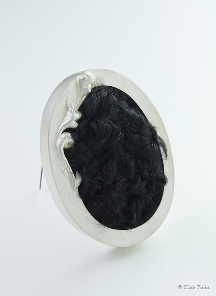 Clare Finin, heirloom, human hair, memento, artist, metalsmith, contemporary metalsmith, heirloom, memory, repurposed silver