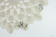 Clare Finin, heirloom, human hair, memento, artist, metalsmith, contemporary metalsmith, heirloom, doily