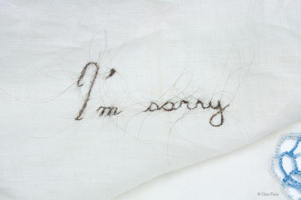 Clare Finin, heirloom, human hair, memento, artist, metalsmith, contemporary metalsmith, heirloom, memory, apology, remorse