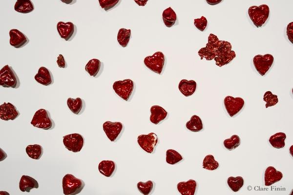 Art, installation, install, jewelry, metalsmith, clare finin, heart, love, heartbreak, unrequited love