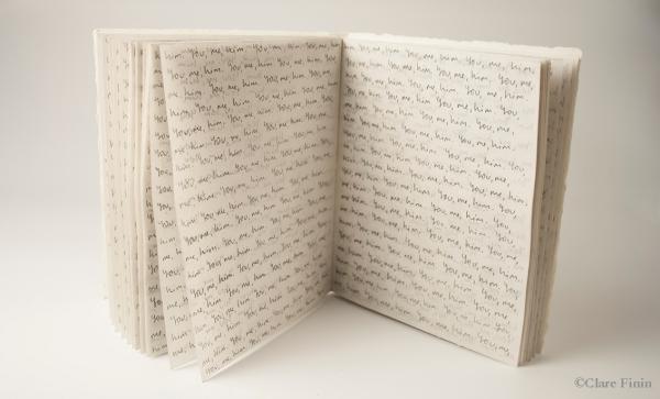 Clare Finin, contemporary jewelry, craft, book, handmade book, memory