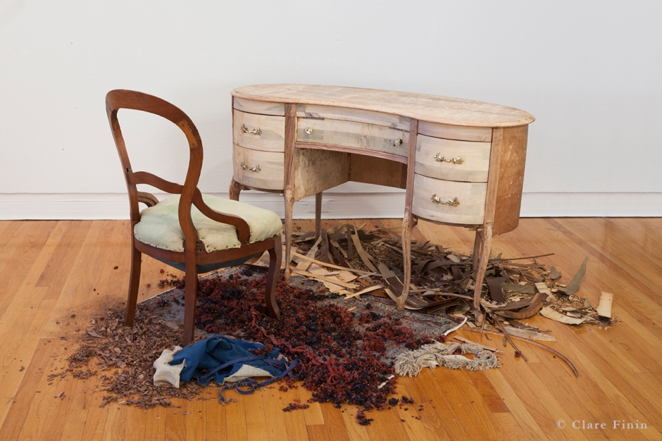 Clare Finin, contemporary art, decoration, decorative art, decorative arts, removal, antique, antique desk, antique rig, antique chair