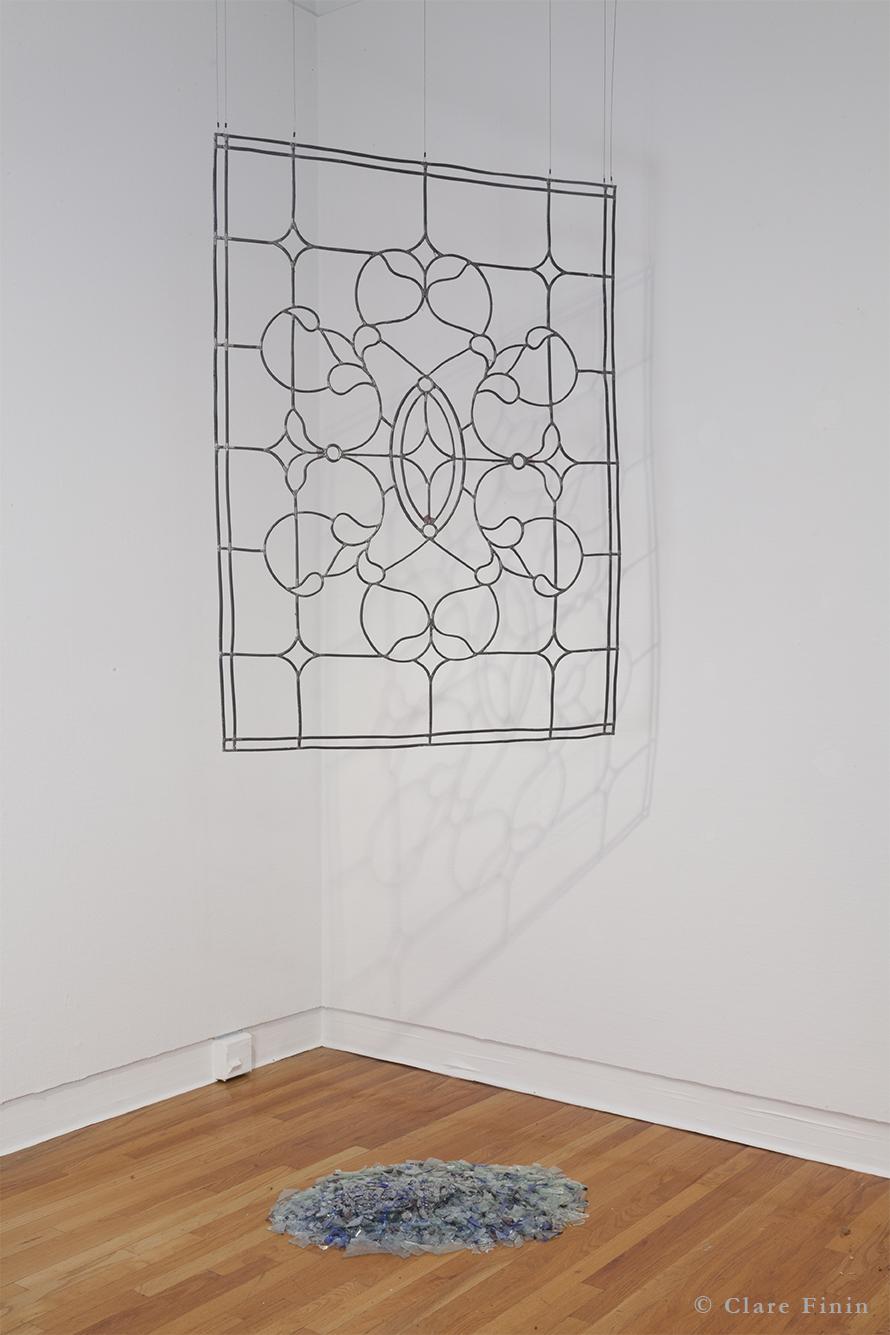 Clare Finin, contemporary art, decoration, decorative art, decorative arts, removal, antique, stained glass window, antique window